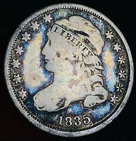 1835 Capped Bust Dime 10C High Grade Choice Good Date 90% Silver US Coin CC7026