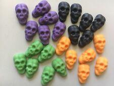 Edible Sugarpaste Halloween Cake Topper - Tiny Skulls x 24