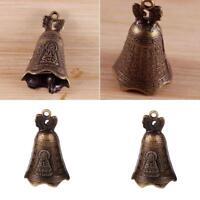 China's Mini Brass Copper Sculpture Pray Buddha Feng shui bell 48*30mm Gift H1T3