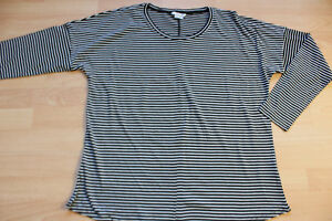 BODEN  striped supersoft relaxed  top  size 12. NEW   WO108
