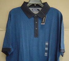 NWT $70 NAUTICA XXL SLIM FIT CONTRAST Mesh Polo Shirt SEA COBALT Cotton K61119