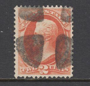 US Sc 178 used. 1875 2c vermillion Andrew Jackson, fresh, bright, F+