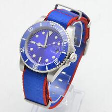 fashion 40MM Bliger Blue Dial Luminous SUB Mechanical Mens Automatic Watch