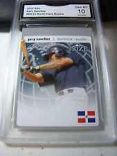 GARY SANCHEZ YANKEES 2012 RIZE WORLD CLASS ROOKIE RC # WC18 GRADED 10