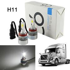 2x White LED H11 Low Beam Headlight Bulb For 04-15 Volvo VNL VNM 630 670 730 780