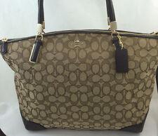 New Coach F36220 Signature Large Kelsey Satchel Crossbody/Shoulder Purse Handbag