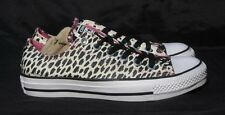 CONVERSE ALL STAR BLACK, WHITE & PINK ANMAL PRINT SNEAKERS  WOMENS SIZE 7