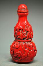Beautiful Chinese sculpture imitation red coral resin zhongkui snuff bottles