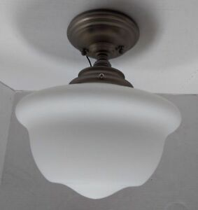 Hudson Valley Lighting 1615F-SN Edison Semi Flush Satin Nickel