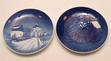 New listing A21 Vintage lot of 2 B & G Kjobenhavn Porcelain Christmas Plates 1960 1963
