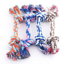 Puppy Dog Pet Toy Cotton Braided Bone Rope Chew Knotted Tied Lovable