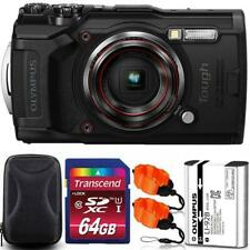 Olympus Tough TG-6 Digital Camera Black + 64GB Memory Card + Strap & Case