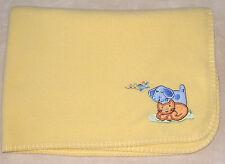 Circo Yellow Fleece Baby Blanket Orange Cat Blue Dog