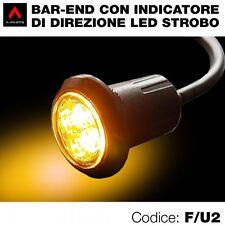 Kit 2 terminali manubrio bar end con indicatori direzione-freccia led arancio