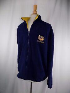 Atlanta Thrashers NHL Navy Blue Knight Full Zip Fleece Jacket L Large Men's