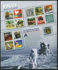 Celebrar el siglo década de 1960 Hoja de quince 33 Centavos Estampillas Postales Scott 3188