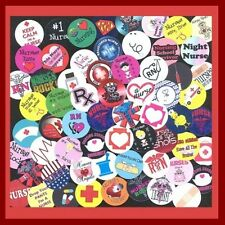 100 Precut RN REGISTERED NURSE NURSING BOTTLE CAP IMAGES Variety 1 inch discs