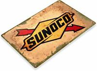 Sunoco Motor Oil Gas Oil Garage Auto Shop Rustic Metal Decor Sign