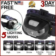 USB Rechargeable Headlamp Flashlight Hands Free Head Band Outdoor Lamp LED Light