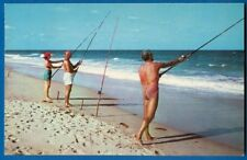 Surf Fishing Along Miles Of White-Capped Waters In Sunny Tropical Florida