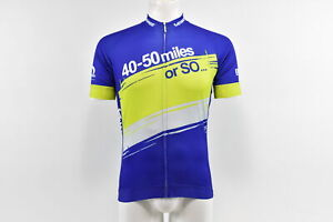Verge Team 40-50 Miles or So Men's S/S Core Jersey, Blue/Green, XL, Brand New