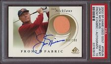 2002 SP GAME USED FRONT 9 FABRICS JACK NICKLAUS #100 AUTOGRAPH/Auto PSA 10 Pop 4