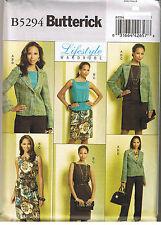 Easy Wardrobe Jacket Top Skirt Pants Butterick Sewing Pattern Size 8 10 12 14