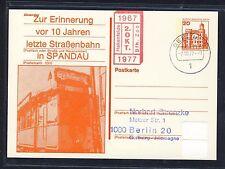 57927) Berlin Zudruck GA P 103 Stassenbahn Spandau 1977, Nebenst. rot