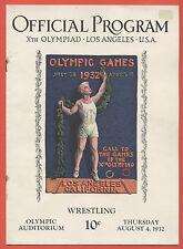 Orig.PRG    Olympische Spiele LOS ANGELES 1932  -  RINGEN 04.08.  !!  RARITÄT