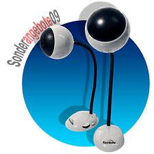 PC aktiv Boxen im RETRO look weiß USB Stromversorgung Lautsprecher 3,5mm PCboxen