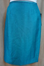 """Le Suit Skirt Sz 4 Jade Green """"Northern Lake"""" Business Evening Cocktail Skirt"""