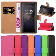 For Sony Xperia XA2 Phone Case Luxury Premium Experia Leather Flip Wallet Cover
