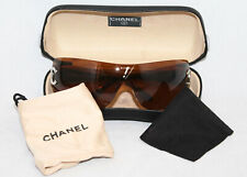 CHANEL 4119 Rimless Shield Women's Sunglasses c. 124/73 119 Brown Lens