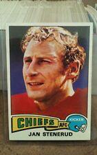 1975 Topps FOOTBALL #488 JAN STENERUD KANSAS CITY CHIEFS HOF KICKER NM/MT