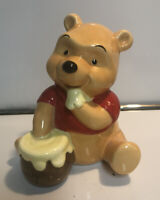 Disney Winnie the Pooh Honey Vintage Japan Ceramic Bank With Stopper Excellent