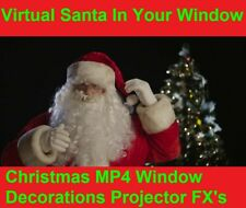 MP4 Virtual Santa in the window Christmas decorations & holograms projector FX