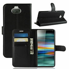 For Sony Xperia 10 Premium Leather Wallet Flip Book Case Cover Pouch with Pocket