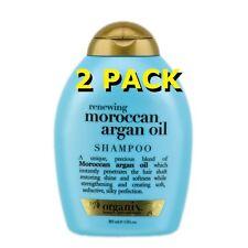 2 Pack Organix Ogx Renewing Moroccan Argan Oil Shampoo 13 fl oz 385 ml