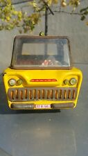 VINTAGE TIN TOY TRUCK TAXI AIRPORT VECHICLE 60's FRICTION ROMANIA METALOGLOBUS