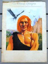 Gouache originale pour la couverture de LES DIEUX ROUGES de Jean d'ESME, 1932