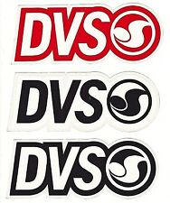 DVS SHOES STICKER LOT  ~  THREE 3x LARGE LOGO STICKERS ~ Red White Black  NEW
