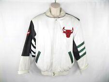 Vintage Jeff Hamilton Chicago Bulls Leather Jacket Size M / L Rare Handmade