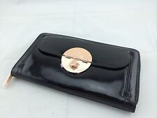 *Free&express Post* BNWT MIMCO TURNLOCK TRAVEL WALLET black rose gold
