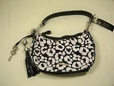Julien Macdonald New Star Purse Black and White With Tassel