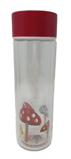 TWO Cath Kidston Water Bottle Mini Mushrooms Glass for hot and cold drinks
