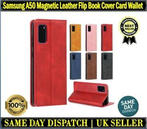 For Samsung A50 / 50S Magnetic Leather Flip Book Case Cover Slim Fit Card Wallet