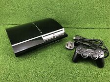 Sony Playstation 3 PS3 Fat 40GB Black Console Set Up - Tested/Working -CECHG03