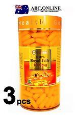 3x Golden Health Royal Jelly 1600mg 365 capsules 6% 10-HDA Australia 1600 100%