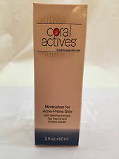 NEW IN Box 2 OZ Coral Actives Moisturizer for Acne-Prone Skin/2