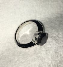 2.55 CT Real Black Diamond Ring Size 7 Sterling Silver Genuine DIAMOND !!!